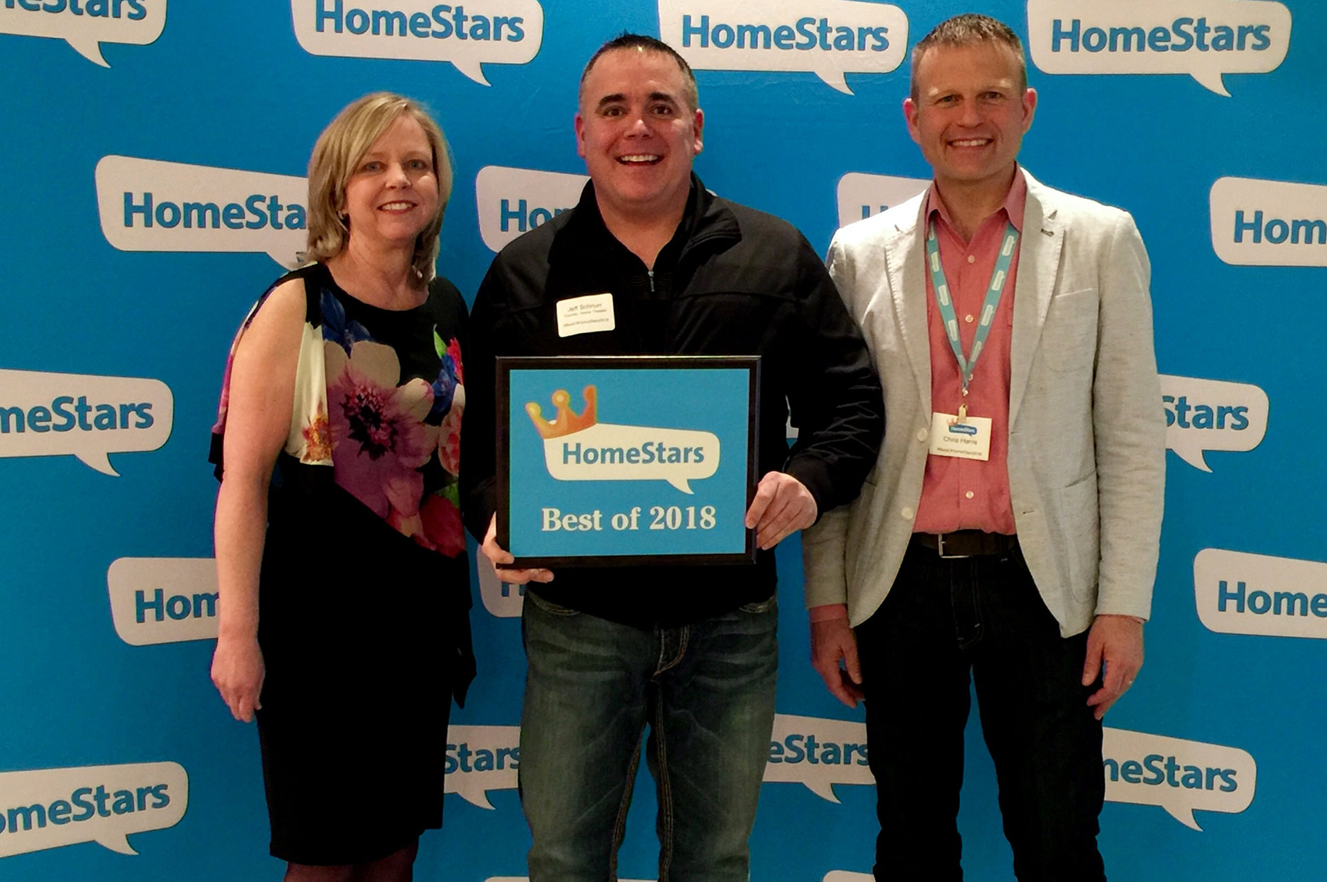 Jeff Schnurr of Toronto Home Theater Winning Homestars Award